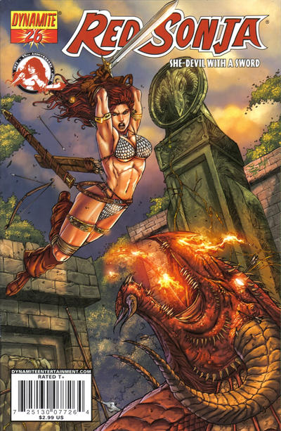 Cover for Red Sonja (Dynamite Entertainment, 2005 series) #26 [David Mack Cover]