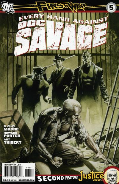 Cover for Doc Savage (DC, 2010 series) #5 [Direct Market Variant by John Cassidy]