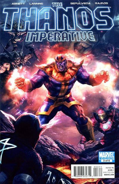 Cover for The Thanos Imperative (Marvel, 2010 series) #3 [2nd Printing Variant]