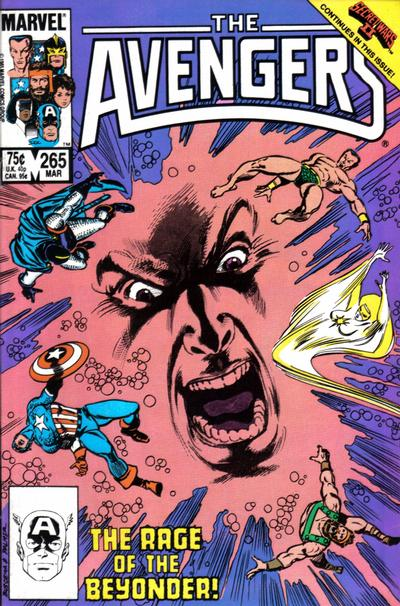 Cover for The Avengers (Marvel, 1963 series) #265 [Newsstand Edition]