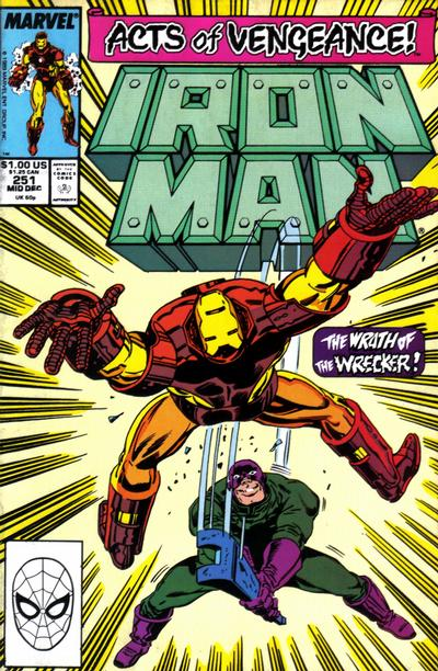 Cover for Iron Man (Marvel, 1968 series) #251 [Newsstand]