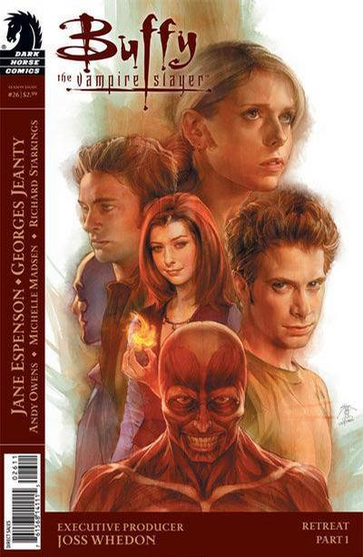 Cover for Buffy the Vampire Slayer Season Eight (Dark Horse, 2007 series) #26 [Alternate Cover - Georges Jeanty, Dexter Vines, & Michelle Madsen]