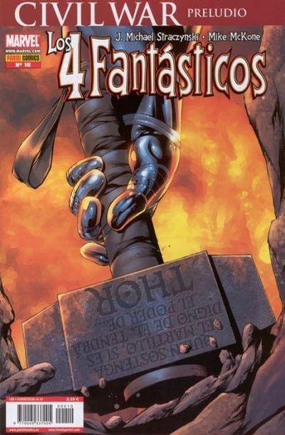Cover for Los 4 Fantásticos (Panini España, 2006 series) #10