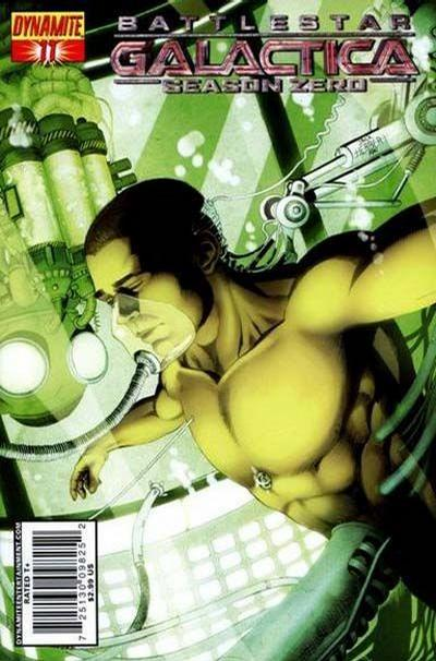 Cover for Battlestar Galactica: Season Zero (Dynamite Entertainment, 2007 series) #11 [Art Cover - Jackson Herbert]