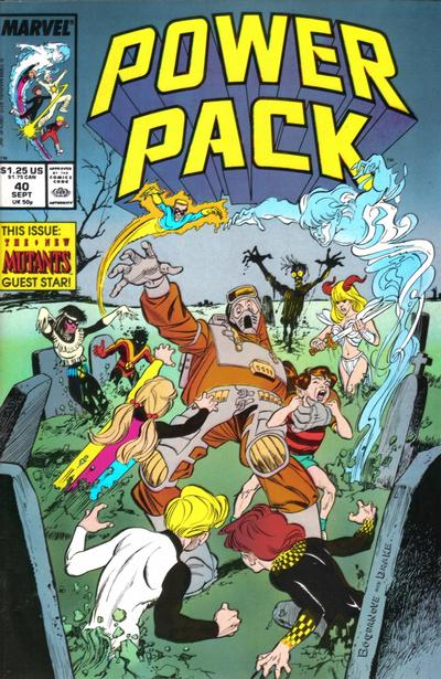 Cover for Power Pack (Marvel, 1984 series) #40 [Newsstand Edition]