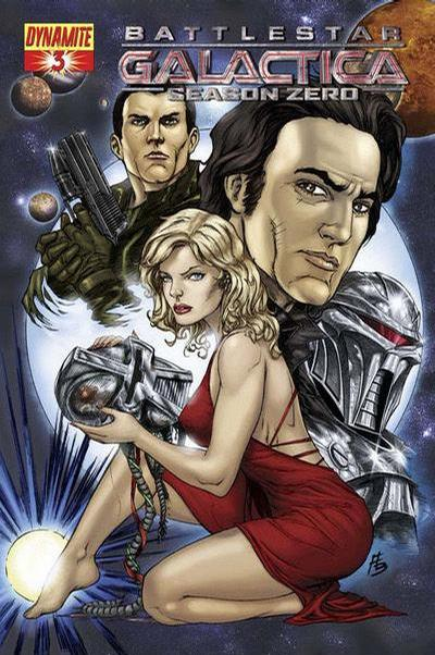 Cover for Battlestar Galactica: Season Zero (Dynamite Entertainment, 2007 series) #3 [Stjepan Sejic Cover]