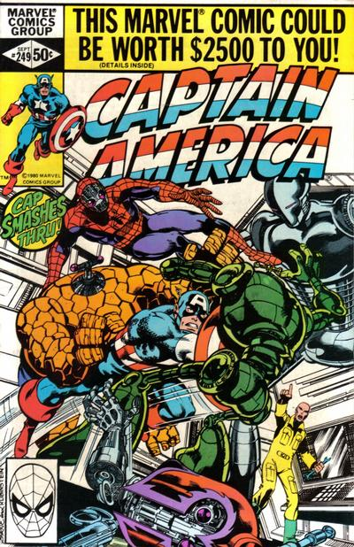 Cover for Captain America (Marvel, 1968 series) #249 [British Price Variant]