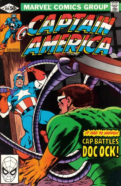 Cover for Captain America (Marvel, 1968 series) #259 [Direct Edition]