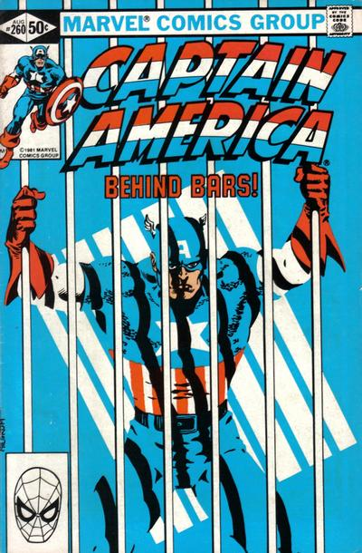 Cover for Captain America (Marvel, 1968 series) #260 [Newsstand Edition]