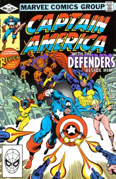 Cover for Captain America (Marvel, 1968 series) #268 [Newsstand]