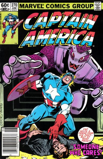 Cover for Captain America (Marvel, 1968 series) #270 [Newsstand Edition]