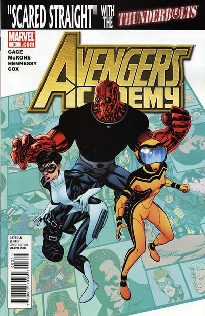 Cover for Avengers Academy (Marvel, 2010 series) #3 [McKone Variant Edition Cover]
