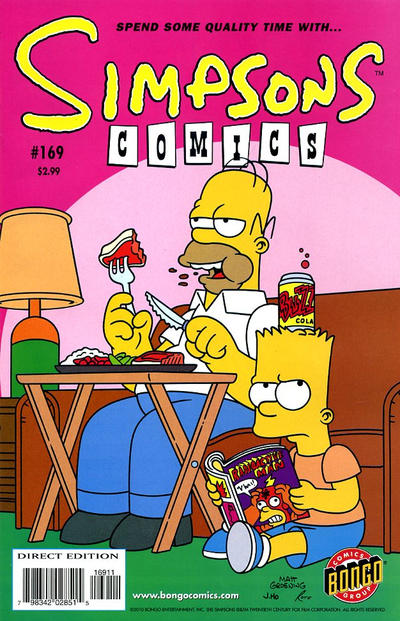 Cover for Simpsons Comics (Bongo, 1993 series) #169
