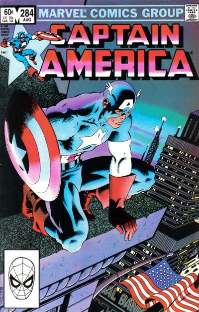 Cover for Captain America (Marvel, 1968 series) #284 [Newsstand Edition]