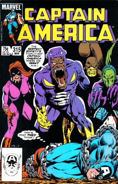 Cover for Captain America (Marvel, 1968 series) #315 [Newsstand Edition]