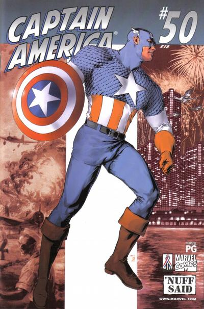 Cover for Captain America (Marvel, 1998 series) #50 (518) [Newsstand Edition]