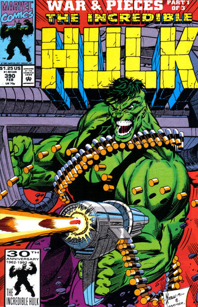 Cover for The Incredible Hulk (Marvel, 1968 series) #390 [Direct]
