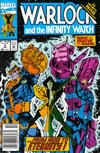 Cover for Warlock and the Infinity Watch (Marvel, 1992 series) #9 [Newsstand]