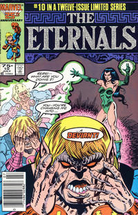 Cover Thumbnail for Eternals (Marvel, 1985 series) #10 [Newsstand Edition]