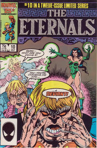 Cover for Eternals (Marvel, 1985 series) #10 [Newsstand]