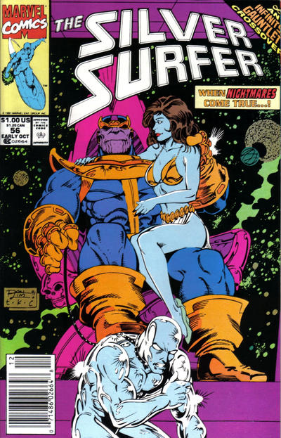 Cover for Silver Surfer (Marvel, 1987 series) #56 [Newsstand Edition]