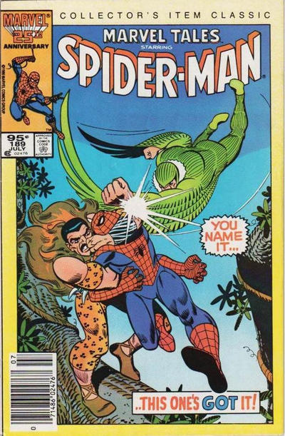 Cover for Marvel Tales (Marvel, 1966 series) #189 [Direct Edition]
