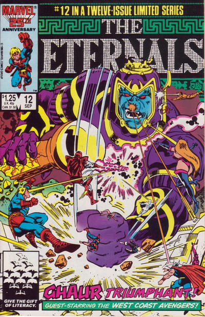 Cover for Eternals (Marvel, 1985 series) #12 [Direct]