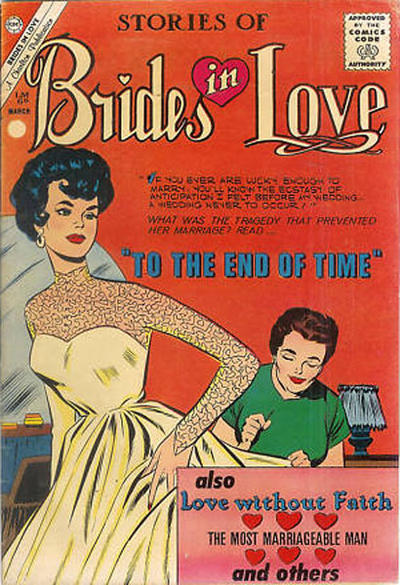 Cover for Brides in Love (Charlton, 1956 series) #23 [British price variant]
