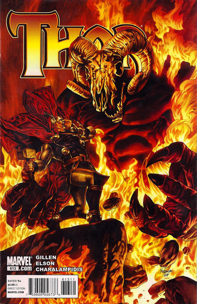 Cover for Thor (Marvel, 2007 series) #613
