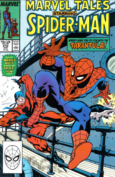 Cover for Marvel Tales (Marvel, 1966 series) #210 [Direct Edition]