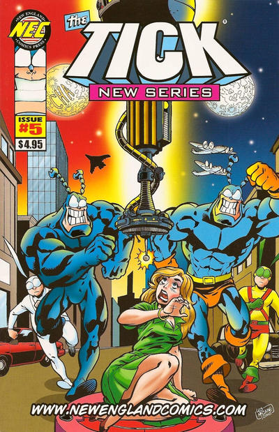 Cover for The Tick New Series (New England Comics, 2009 series) #5