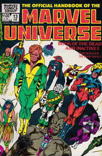 Cover Thumbnail for The Official Handbook of the Marvel Universe (Marvel, 1983 series) #13 [Direct]