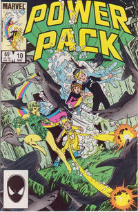 Cover Thumbnail for Power Pack (Marvel, 1984 series) #10 [Direct Edition]