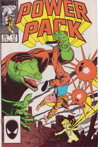 Cover Thumbnail for Power Pack (Marvel, 1984 series) #17 [Direct Edition]