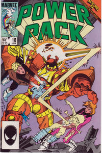 Cover Thumbnail for Power Pack (Marvel, 1984 series) #18 [Direct Edition]