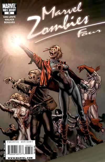 Cover for Marvel Zombies 4 (Marvel, 2009 series) #3 [1980's Variant Edition]