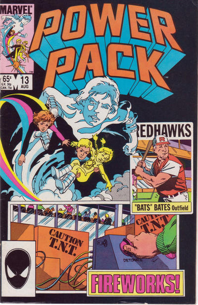 Cover for Power Pack (Marvel, 1984 series) #13 [Newsstand Edition]