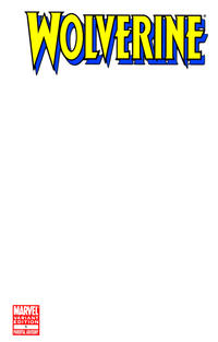 Cover Thumbnail for Wolverine (Marvel, 2010 series) #1 [Blank Variant]