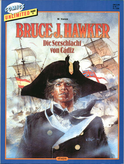 Cover for Comics Unlimited (Egmont Ehapa, 1986 series) #6 - Bruce J. Hawker - Die Seeschlacht von Cádiz