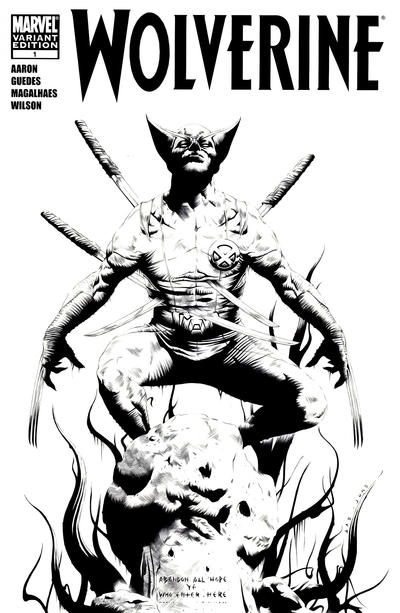 Cover for Wolverine (Marvel, 2010 series) #1 [Blank Variant]