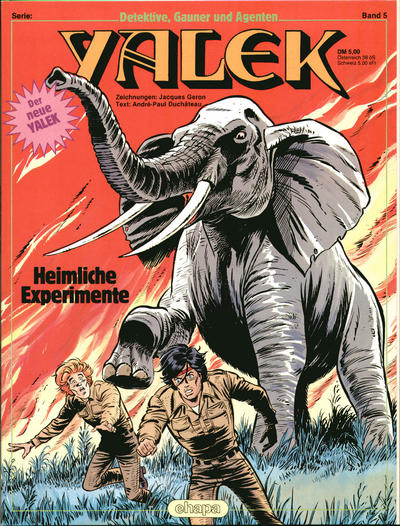 Cover for Detektive, Gauner und Agenten (Egmont Ehapa, 1982 series) #5 - Yalek - Heimliche Experimente