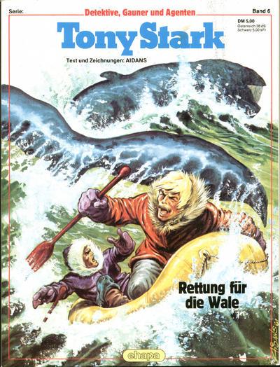 Cover for Detektive, Gauner und Agenten (Egmont Ehapa, 1982 series) #6 - Tony Stark - Rettung für die Wale