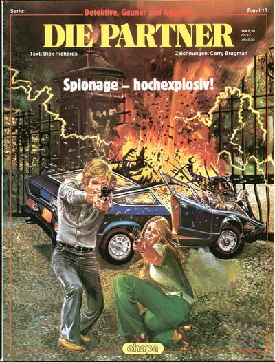 Cover for Detektive, Gauner und Agenten (Egmont Ehapa, 1982 series) #13 - Die Partner - Spionage - hochexplosiv