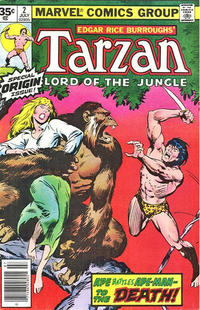 Cover Thumbnail for Tarzan (Marvel, 1977 series) #2 [35 cent cover price variant]