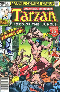 Cover Thumbnail for Tarzan (Marvel, 1977 series) #3 [35 cent cover price variant]
