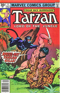 Cover Thumbnail for Tarzan (Marvel, 1977 series) #4 [35 cent cover price variant]