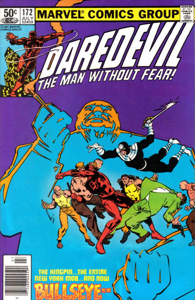 Cover for Daredevil (Marvel, 1964 series) #172 [Newsstand Edition]