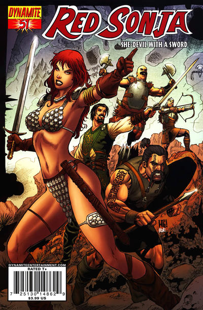 Cover for Red Sonja (Dynamite Entertainment, 2005 series) #51 [Linsner Cover]