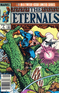 Cover Thumbnail for Eternals (Marvel, 1985 series) #4 [Newsstand]