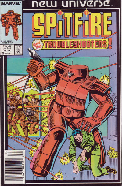 Cover for Spitfire and the Troubleshooters (Marvel, 1986 series) #3 [Direct]